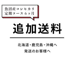 【追加送料 定期コース 6ヶ月】北海道・鹿児島・沖縄へ発送のお客様へ