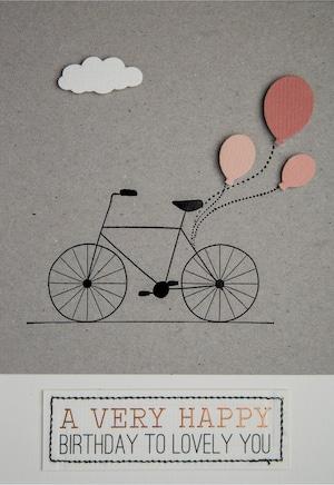 バースデーカード 自転車  #866