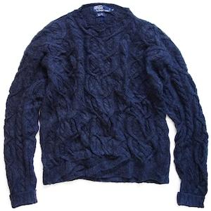 90年代 Polo ラルフローレン ハンドニット フィッシャーマン セーター    Ralph Lauren ヴィンテージ 古着