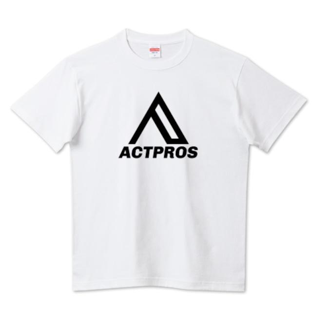 【MEN'S】ACTPROS オリジナルロゴ 5.6ハイクオリティーTシャツ(United Athle) ホワイト【9colors】