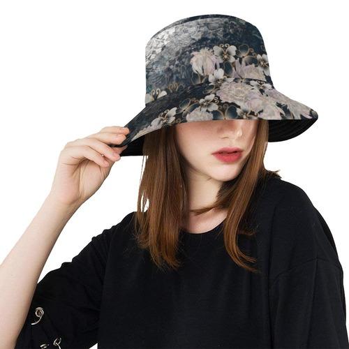 華蝶ブルーホワイト Bucket Hat バケットハット
