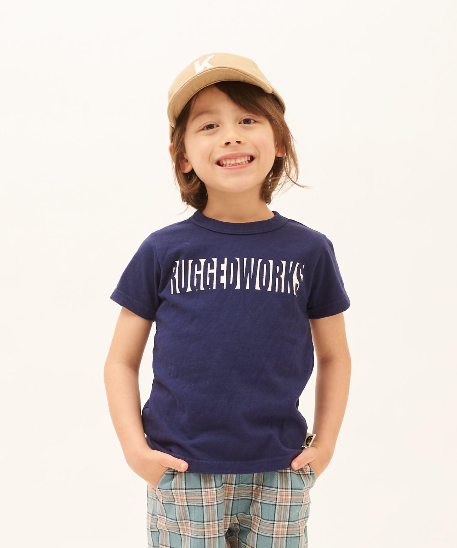 RUGGEDWORKSロゴ半袖TEE(日本製)