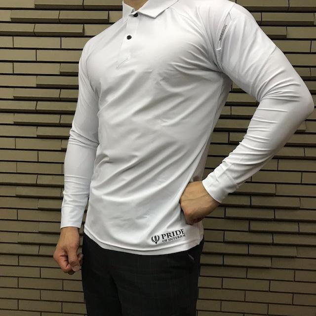 PRIDE OF INTERIOR クールアイス長袖ポロシャツ 021-02