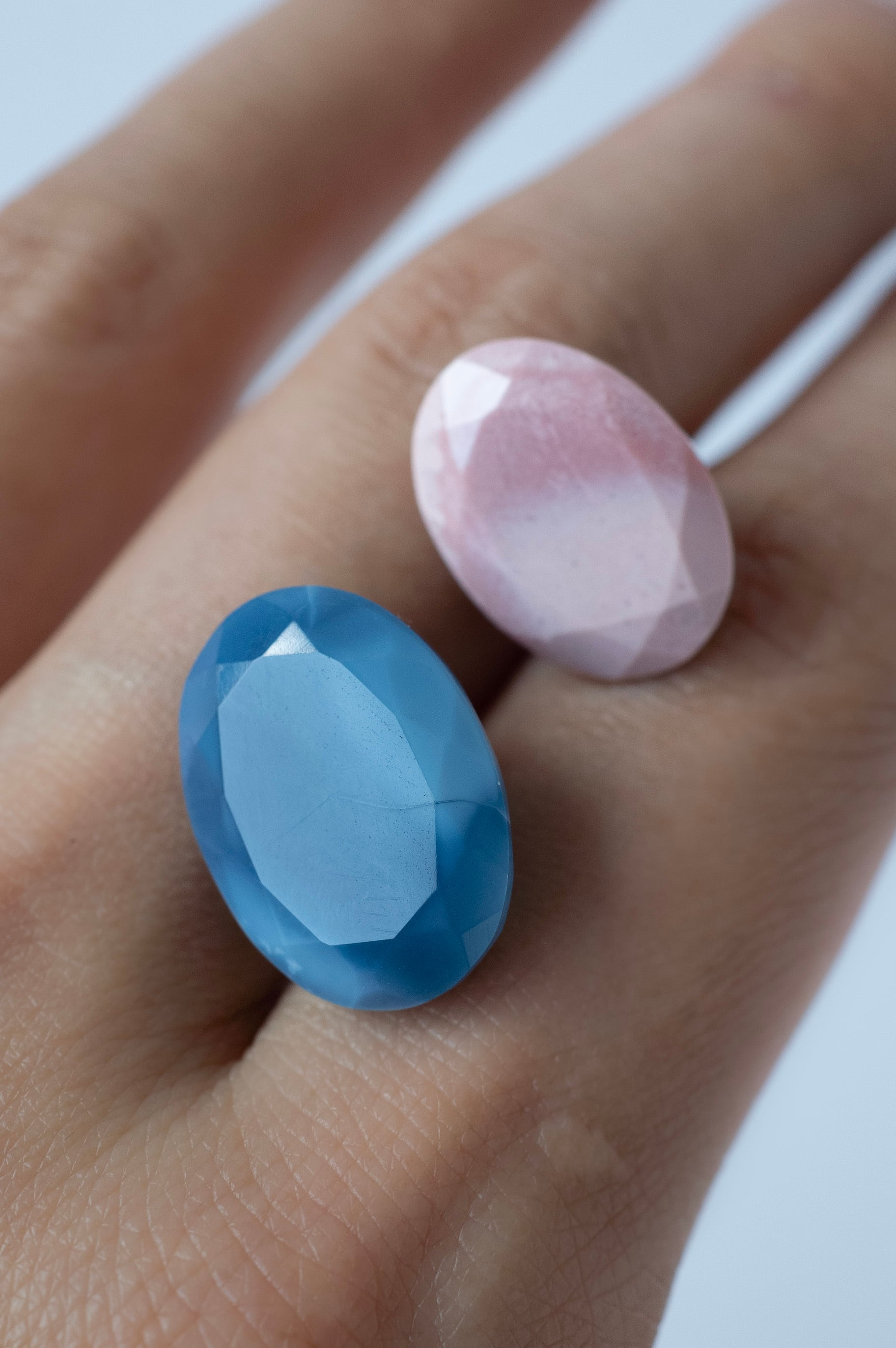 Pink & Blue Opal Set - 012
