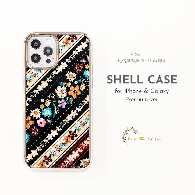 【iPhone13対応】天然貝シェル★フェリーチェ(iPhoneプレミアムケース)|螺鈿アート