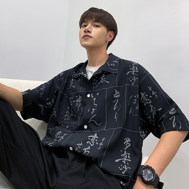 【トップス】ストリート系半袖プリントシャツ43148405