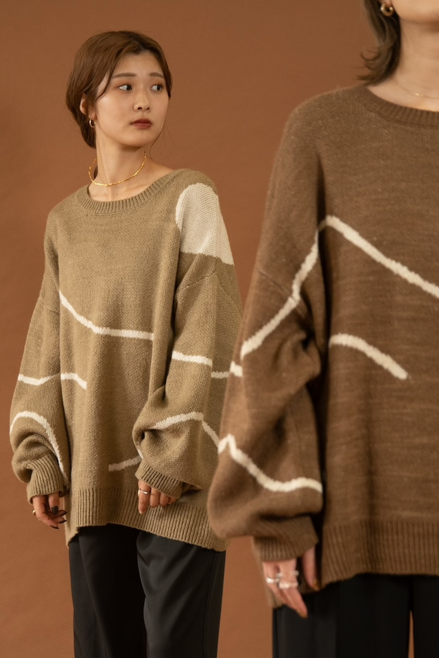 nuance over size knit