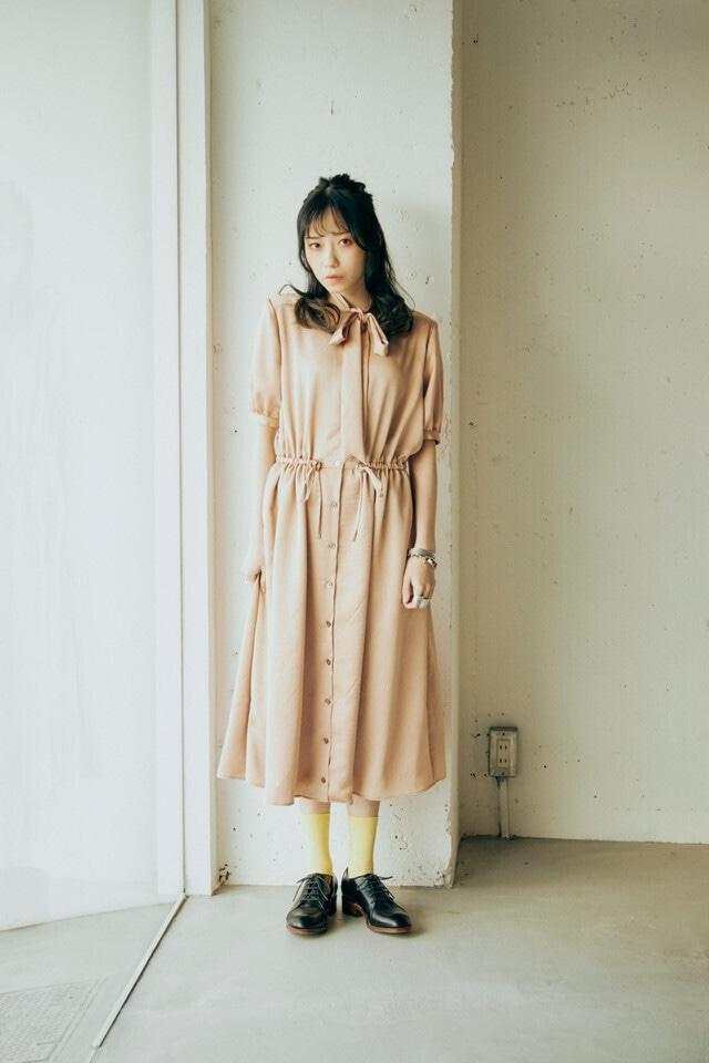 CaNARi 2021ss bowtie  shortsleeve dress