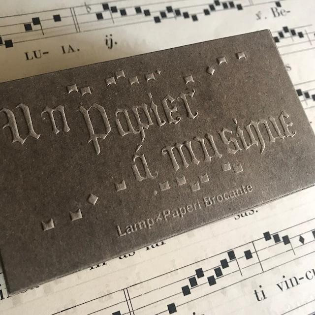 Papier à musique  Box 【 MINIMUM set 】