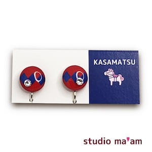 ■KASAMATSU-16 イヤリング。まる。〜ピアス変更可〜