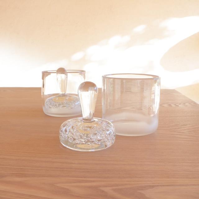 ガラス漬物鉢 〈 S 〉φ90