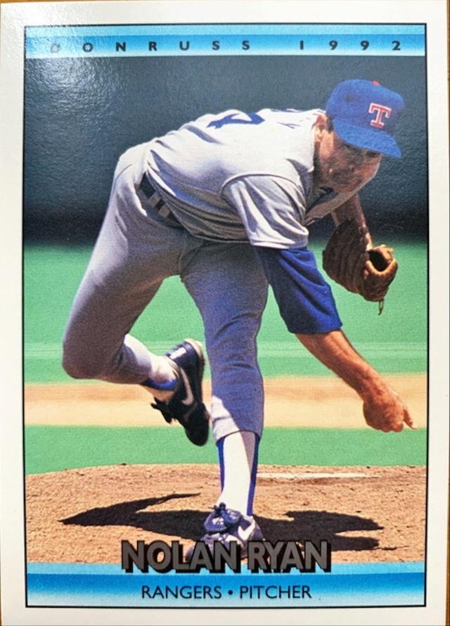 MLBカード 92DONRUSS Nolan Ryan #707 RANGERS