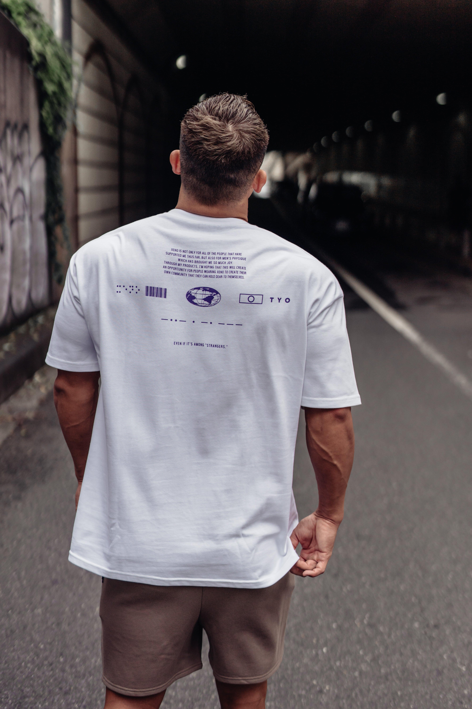 XENO UNIVERSAL CONCEPT T-shirt WhitePurple