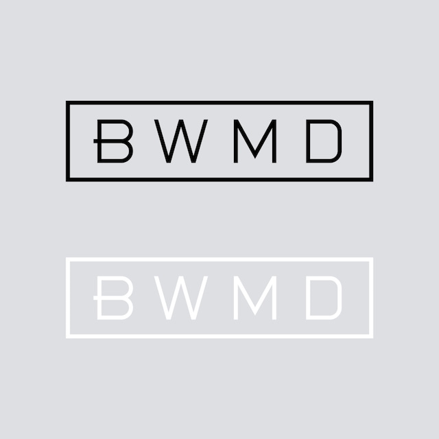 BWMD LOGO CUTTING STICKER 【 M 】