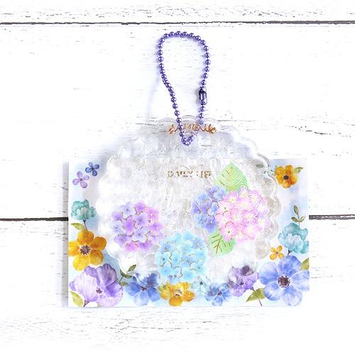 【ぺそ。】紫陽花のオルゴナイトキーホルダー/キーホルダー