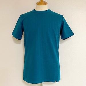 New Blister Jacquard Crewneck T-shirts Blue
