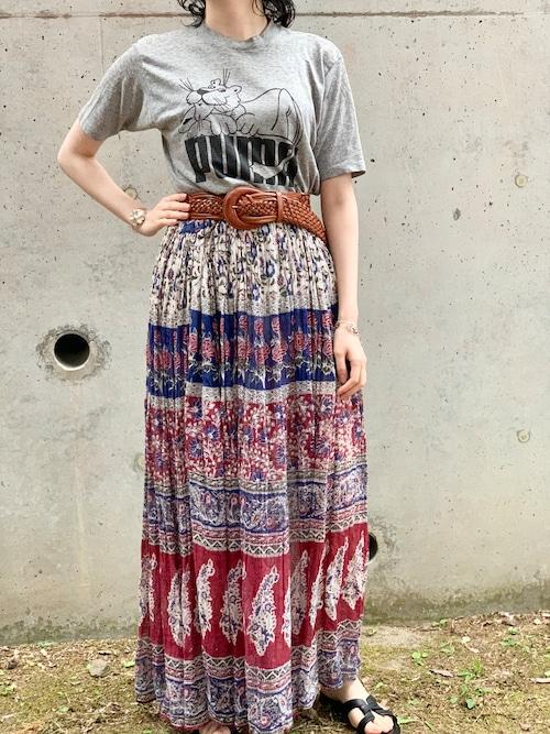Vintage Indian Cotton Skirt ①