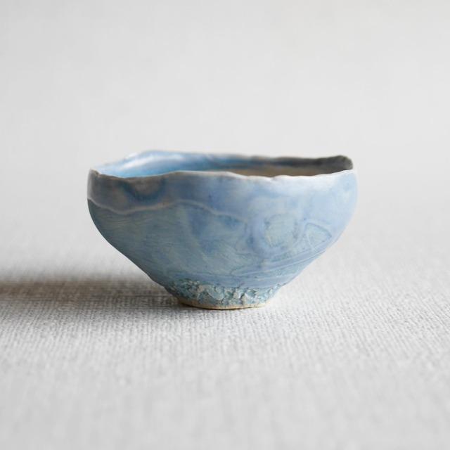 釉彩酒盃 Blue