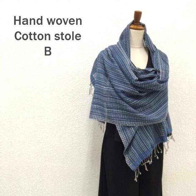 手織りコットンストール B