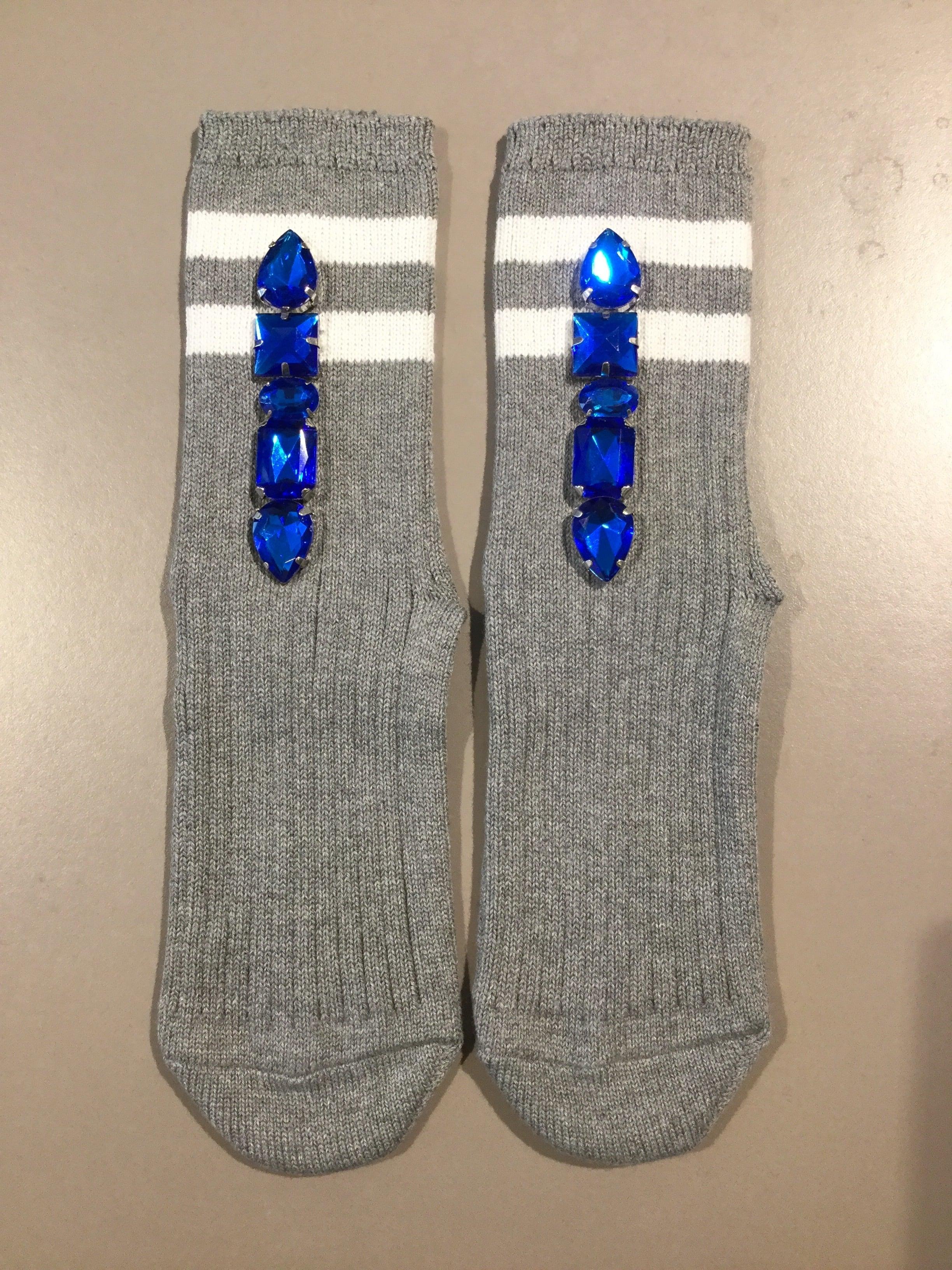 FAKUI LINE BIJOUX SOCKS GREY・BLUE