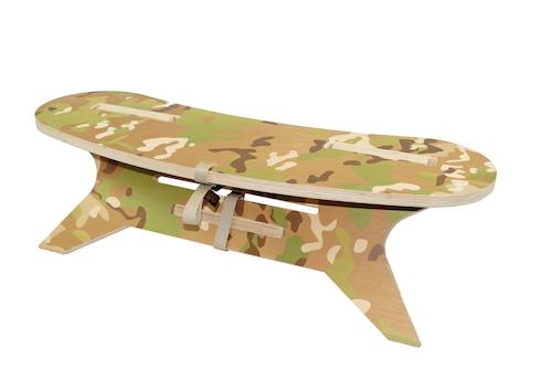 C型テーブル ブーメラン「マルチカム」(印刷天板)焚き火 テーブルC TABLE Boomerang W800  アウトドア テーブル