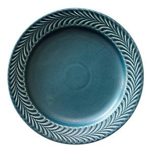 波佐見焼 翔芳窯 ローズマリー リムプレート 皿 約18cm デニム 33387