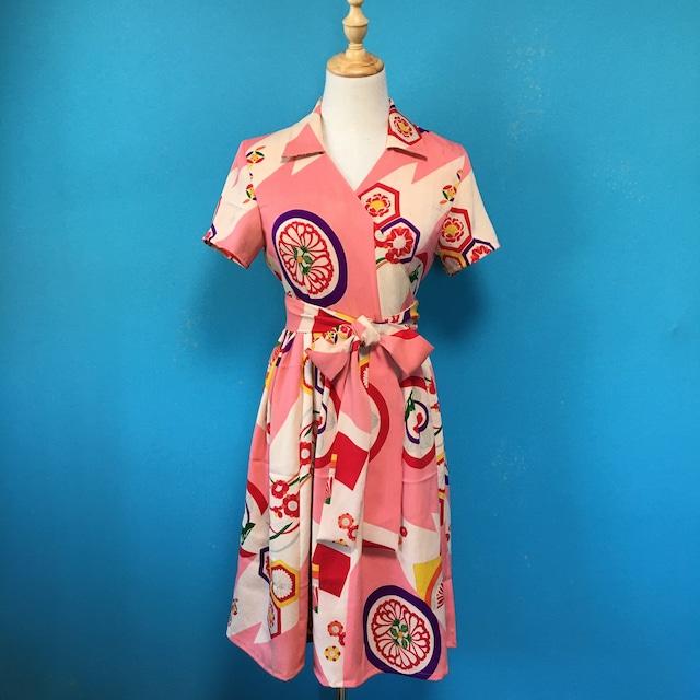 Vintage kimono dress/ US 6 大正浪漫