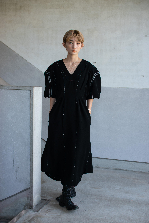 【予約】AKIKOAOKI Heads tail dress-02