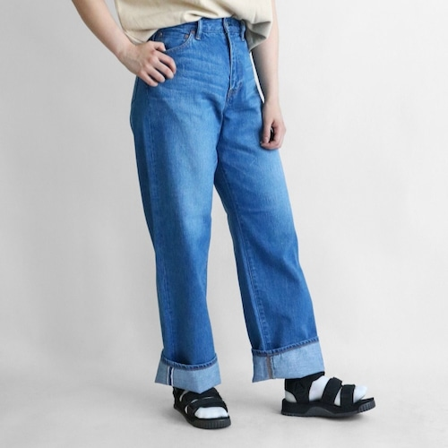 【TEXTURE WE MADE】12oz SELVAGE HIGHWAIST JEANS VINTAGE WASHレディース ジーンズ 岡山 児島 日本製 MADE IN JAPAN