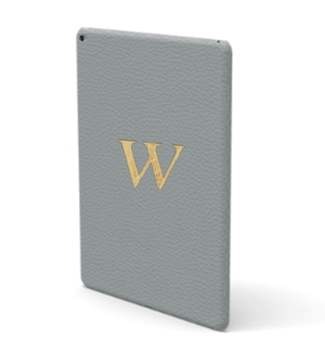 iPad Premium Shrink Leather Case (Ice Grey)
