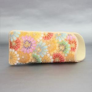 眼鏡ケース 081 多色菊 ビーズ刺繍