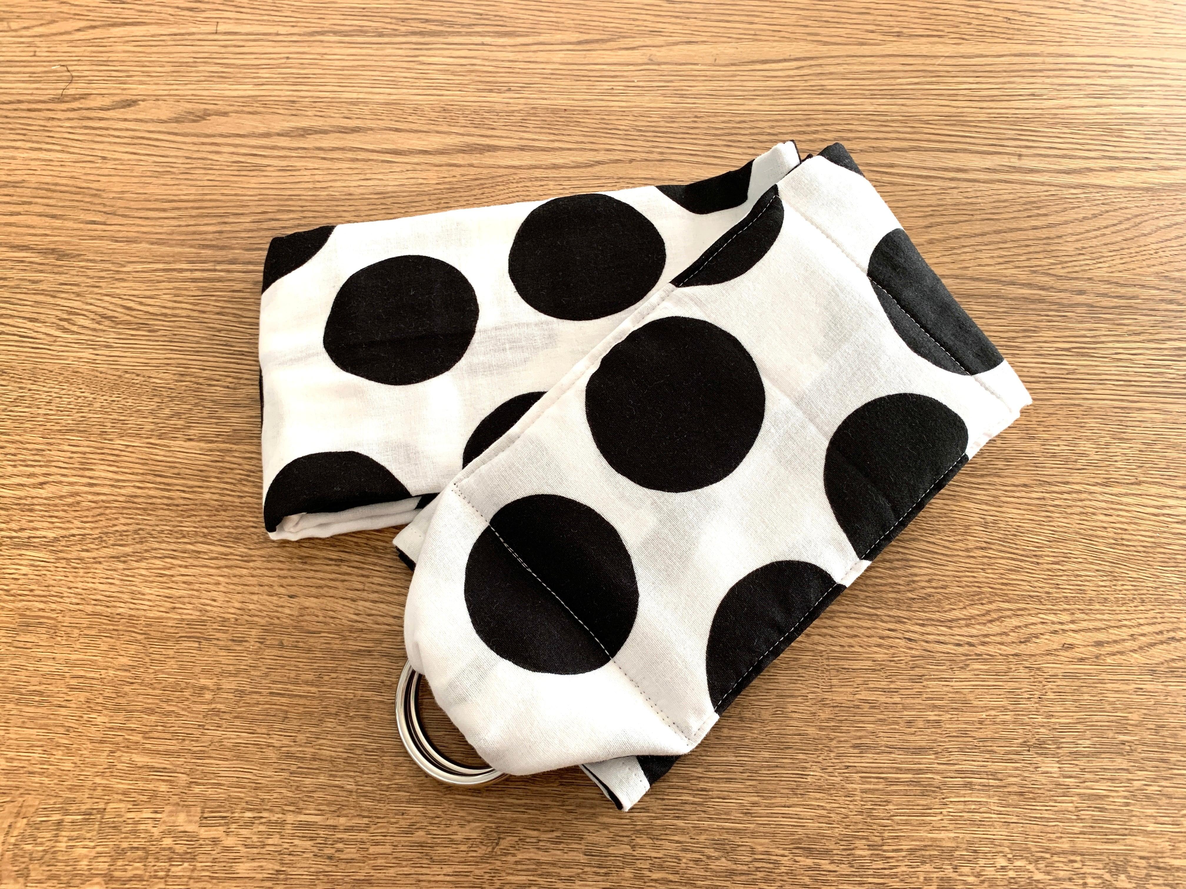 丸洗いできるベビースリング・日本製コットンダブルガーゼ100% 水玉