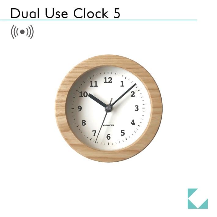 KATOMOKU Dual use clock 5 km-112NRC ナチュラル 電波時計