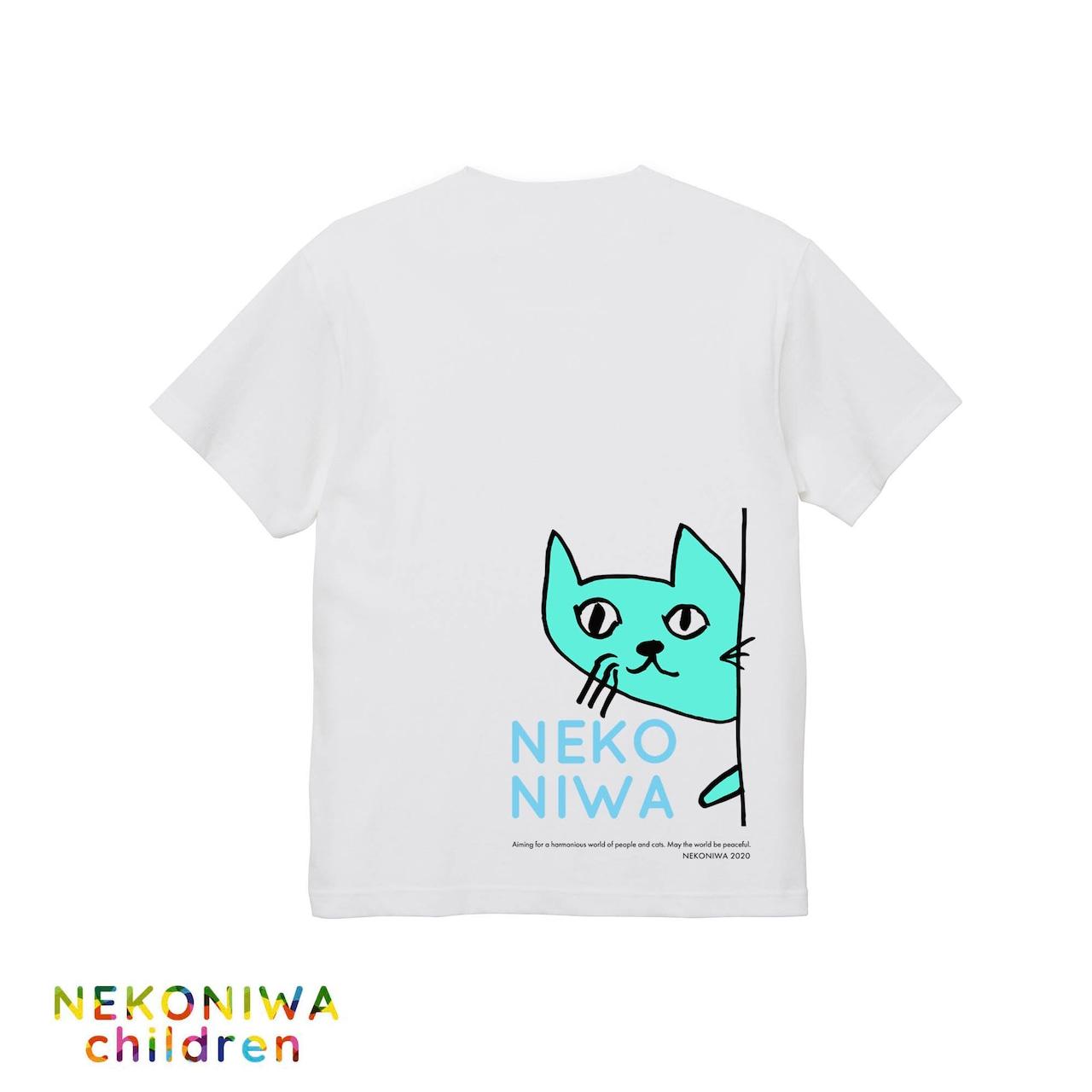 "NEKONIWA-KIDS Tシャツ""バックプリント""パステルカラー3色【Summer2020】全国送料‼"