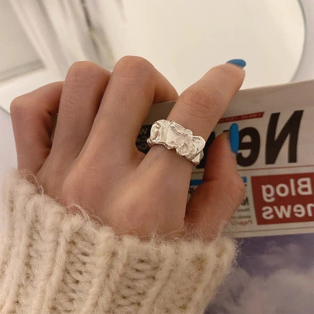 crumpled metal ring 2c's