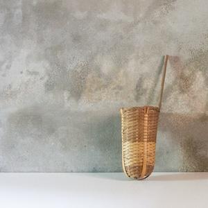 竹編の湯切り