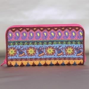 ビーズ刺繡 長財布 (#145 1811)