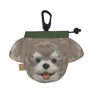 犬のウンチバッグ S【トイプードル】 (黒色)  防臭生地 / デオドラント加工布使用