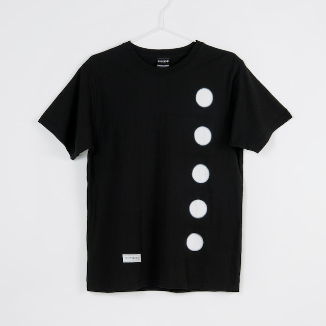 黒紋付染めTshirt 「黒紋 -くろもん-(Black crest)」