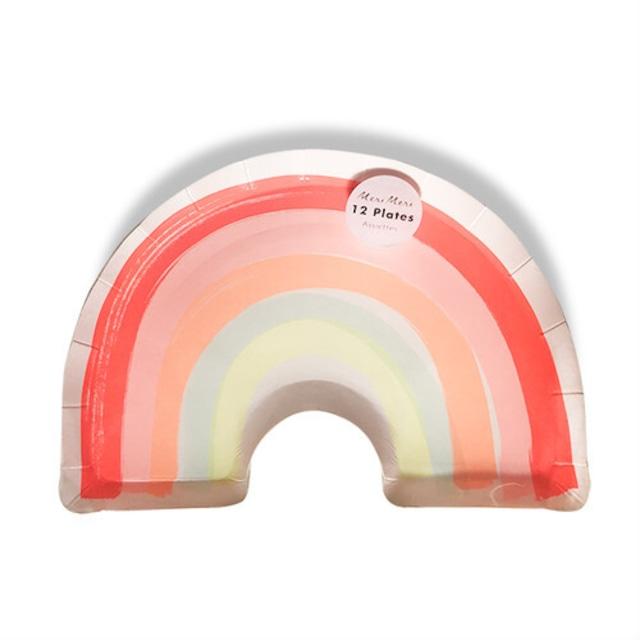 merimeri メリメリ - paper plate / ペーパープレート ( RAINBOW ) 12枚入り