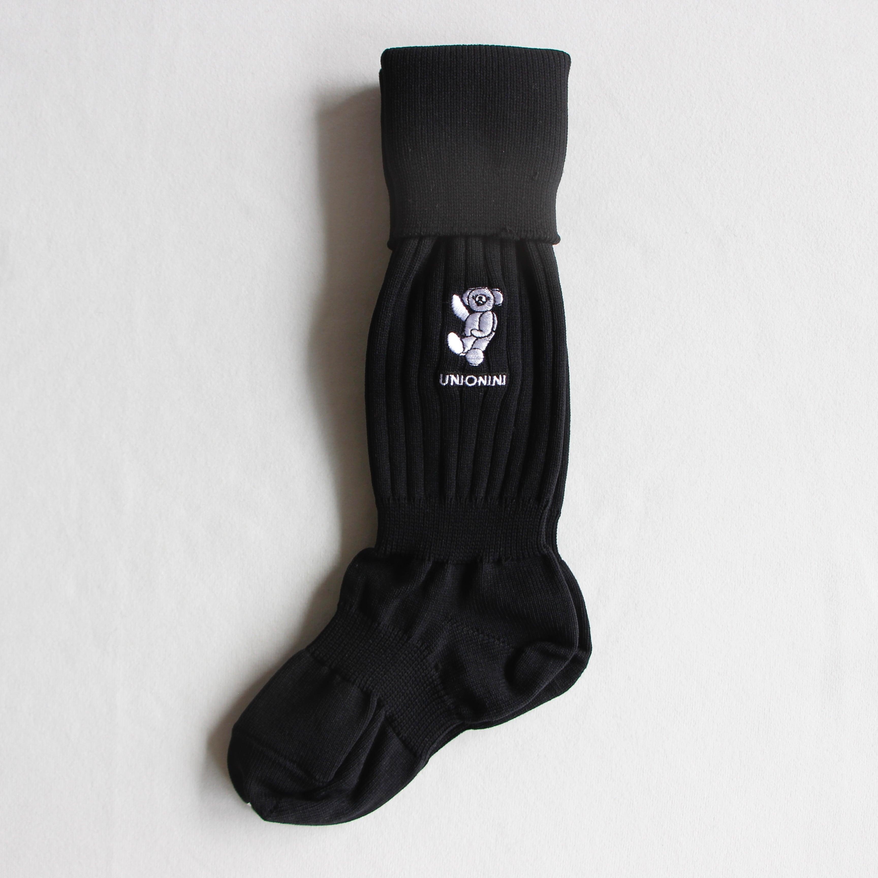 《UNIONINI 2021AW》over-knee teddybear socks / black