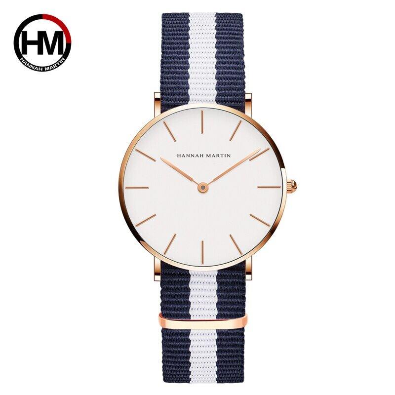 ジャパンクォーツシンプルな女性のファッション時計ホワイトレザーストラップレディース腕時計ブランド防水腕時計36mmCB36-F5