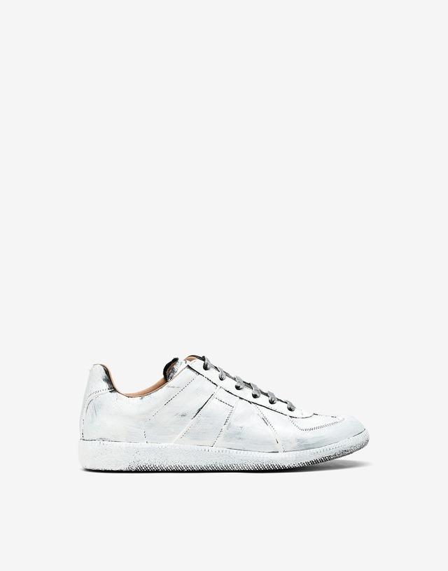 Maison Margiela  Replica white paint sneaker