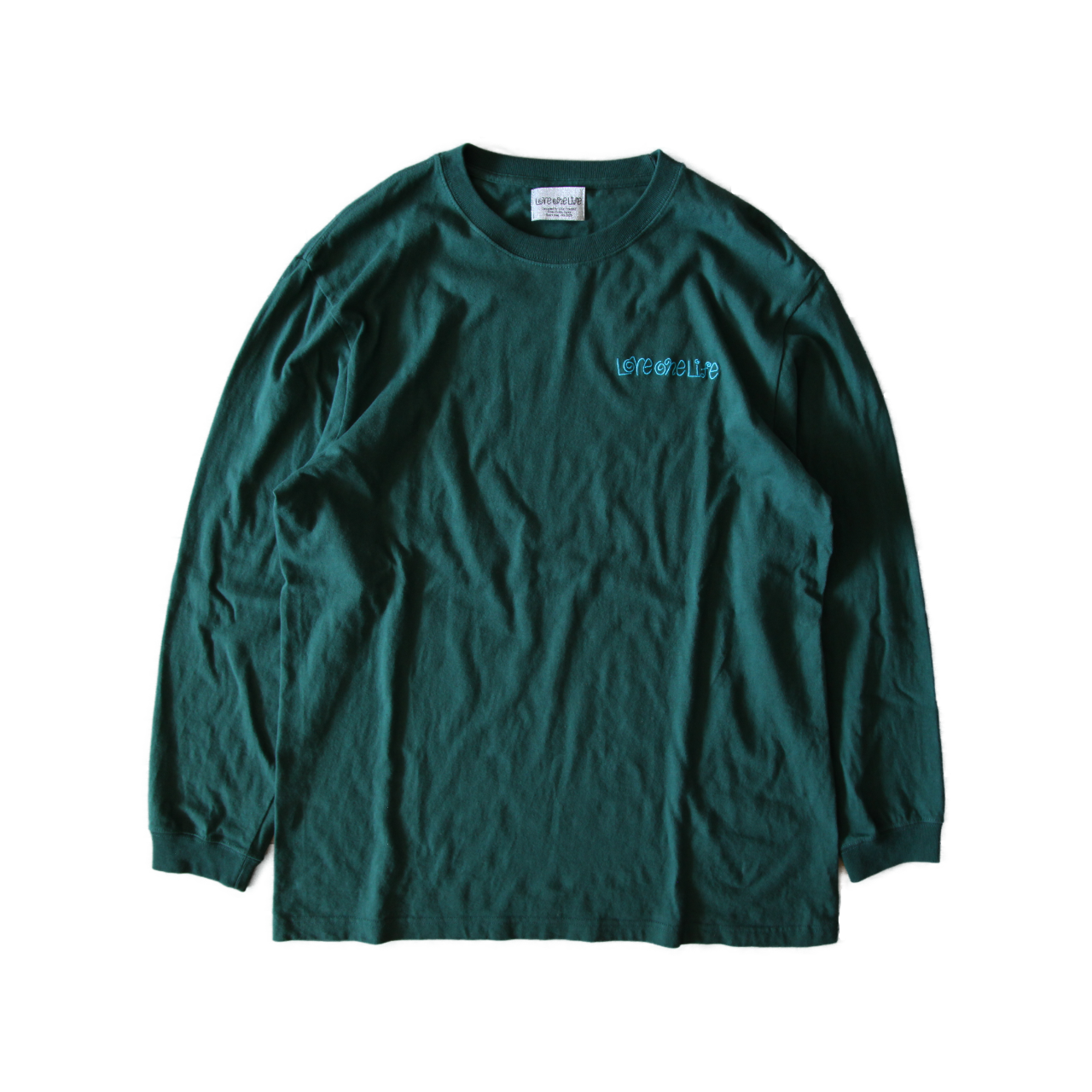 signature love one life LS tee in ivy green