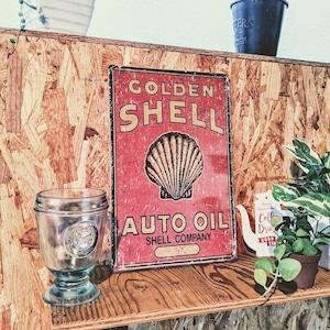 【SHELL】ブリキ製アメリカンサインボード