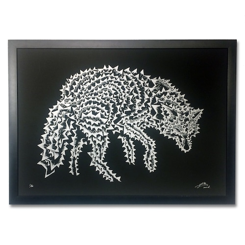 """ANIMAL SEQUENCE """"オオカミ/全身"""" SCREEN PRINT(with frame)"""
