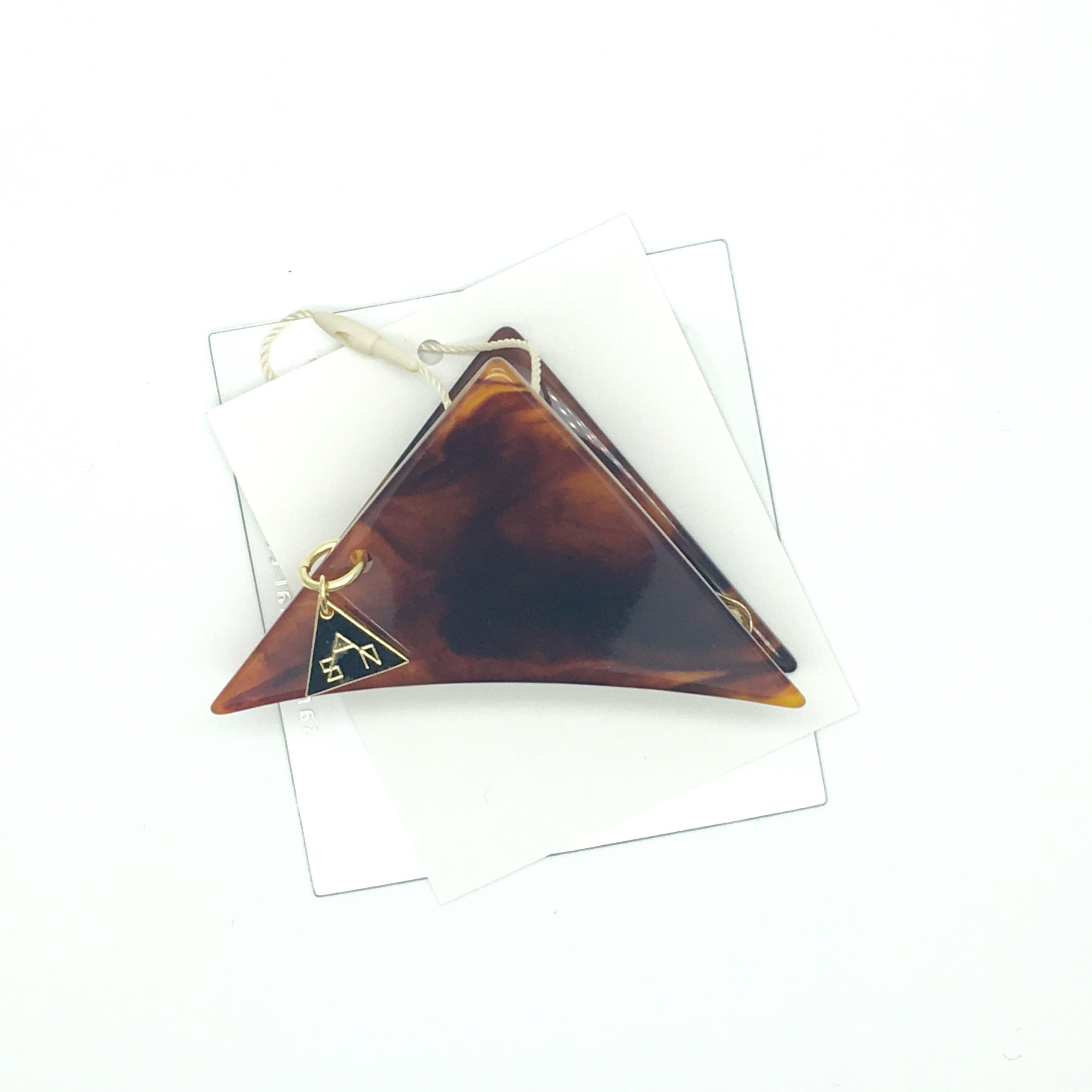 sAn 三角クリップSサイズ べっこう