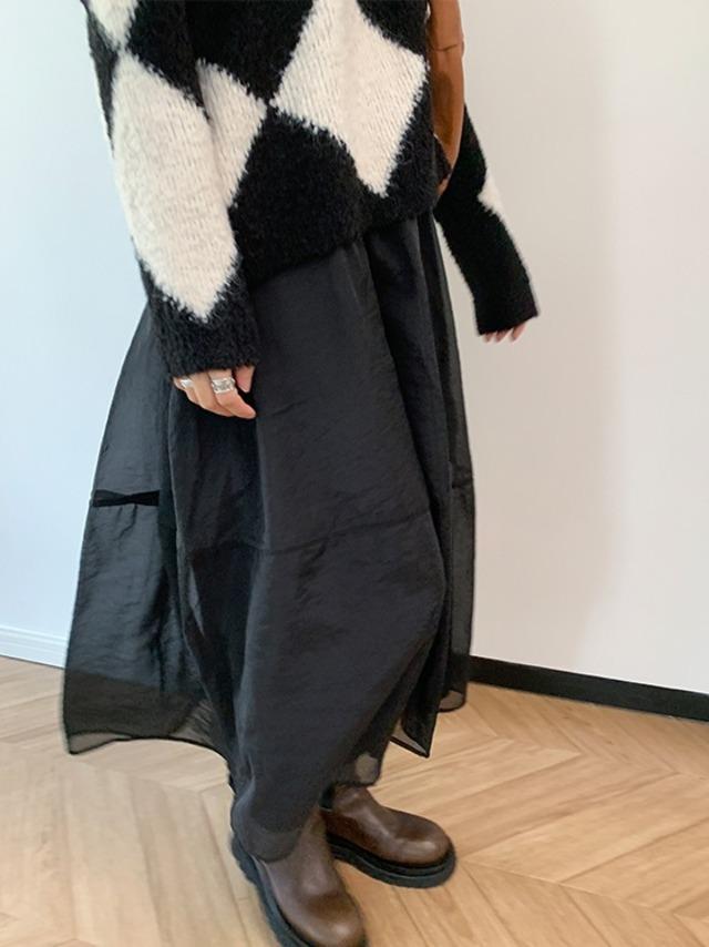 Organza middle skirt(オーガンザミドルスカート)b-484