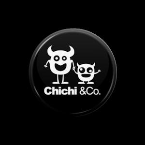 Chichi &Co. 缶バッチ 25mmブラック