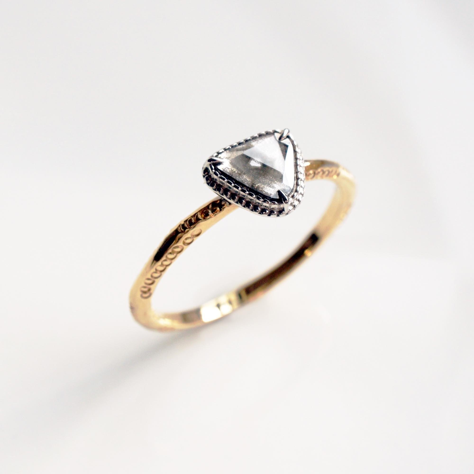 Sliced Diamond Ring(R261-YWD)